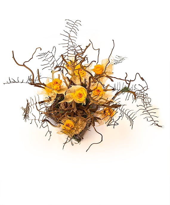 Bonsai uscat cu mini trandafiri criogenati 4