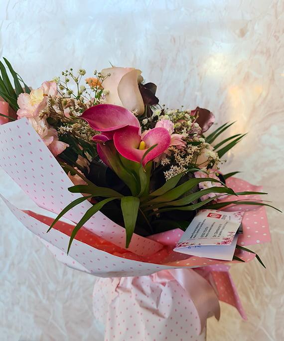 Buchet cale trandafir Astilbe 5 1