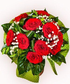Buchet din 11 trandafiri rosii 1