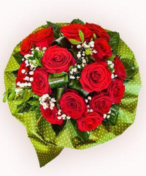 Buchet din 15 trandafiri rosii 1 1