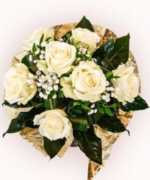 Buchet din 7 trandafiri albi 1