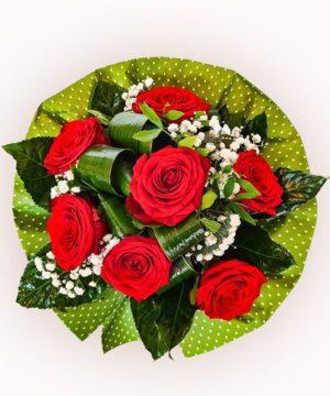Buchet din 7 trandafiri rosii 1