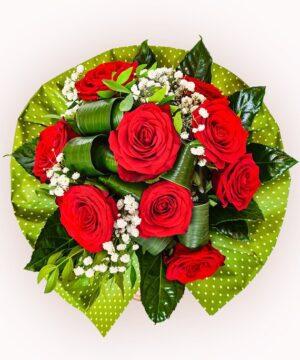 Buchet din 9 trandafiri rosii 1
