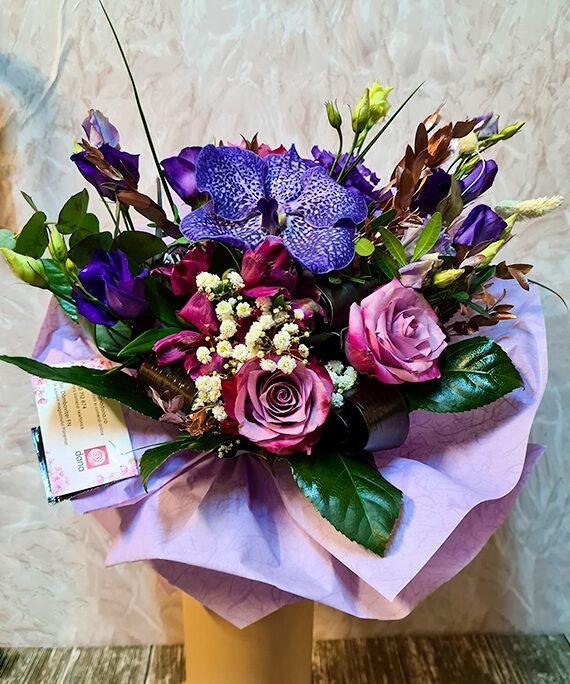 Buchet rotund All Purple a1