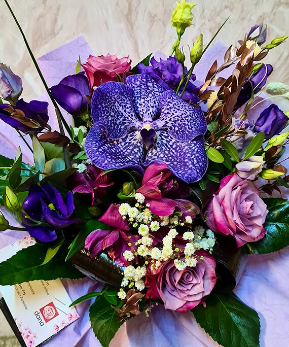 Buchet rotund All Purple a2