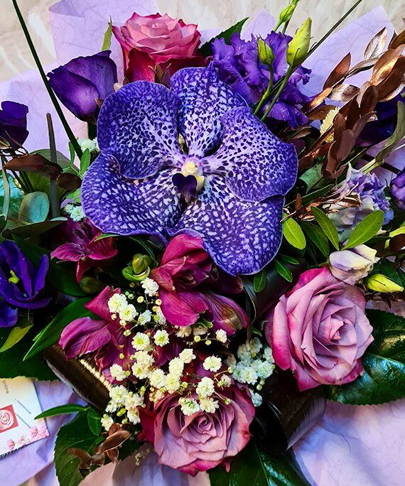 Buchet rotund All Purple a3