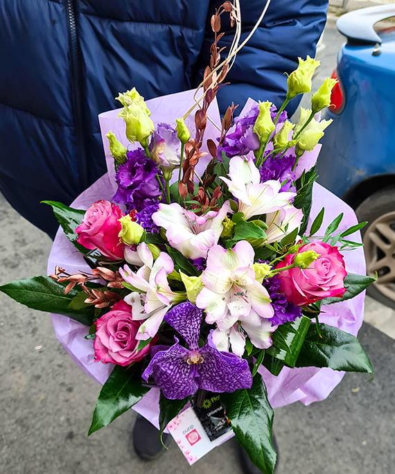 Buchet rotund All Purple b1