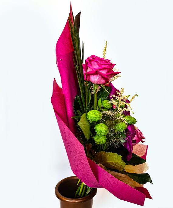 Buchet trandafiri si Vanda 2
