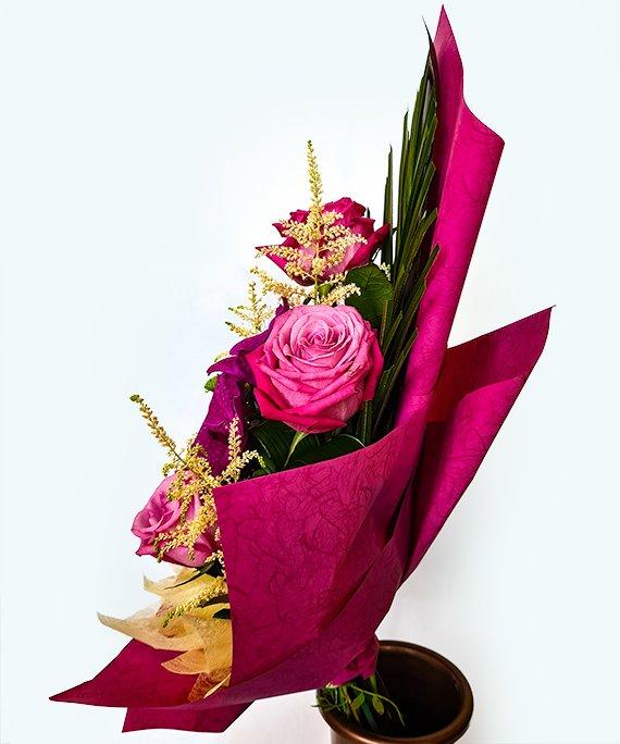 Buchet trandafiri si Vanda 3