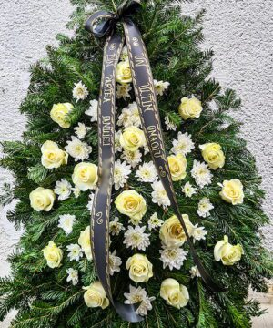 Coroana 18 trandafiri si crizantema 2