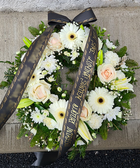 Coroana funerara alba 1 a