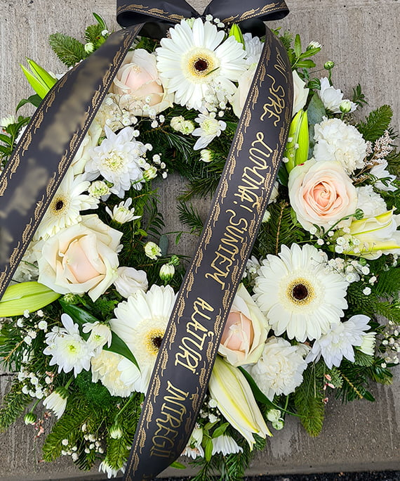Coroana funerara alba 2 a