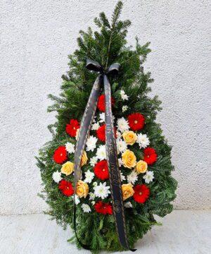 Coroana funerara trandafiri mix 1 1