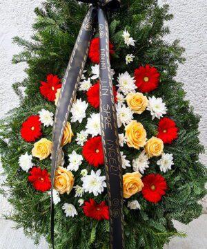 Coroana funerara trandafiri mix 2 1