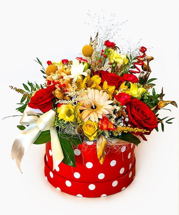 Cutie mare cu flori mixate 1
