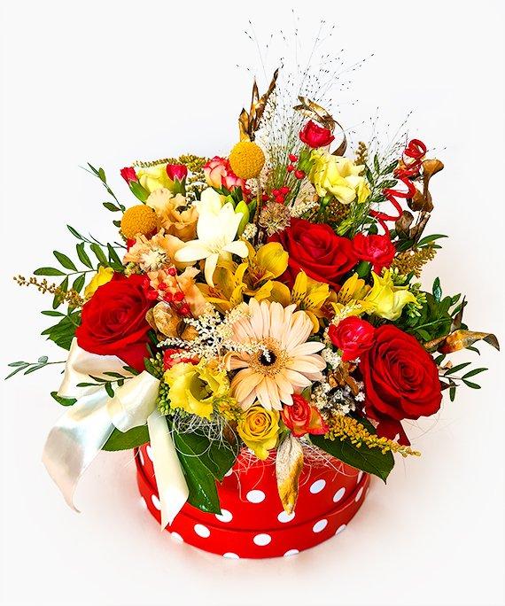 Cutie medie cu flori mixate 1