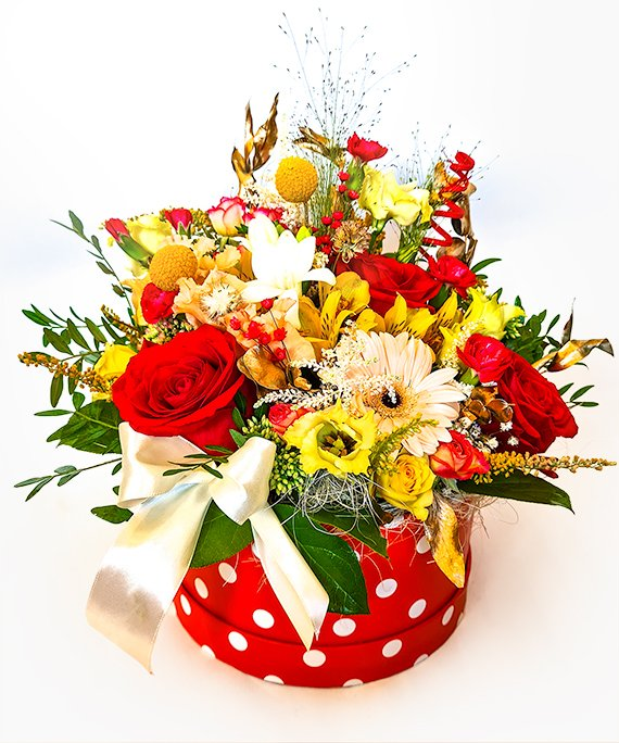 Cutie medie cu flori mixate 2