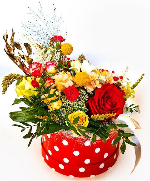 Cutie medie cu flori mixate 3