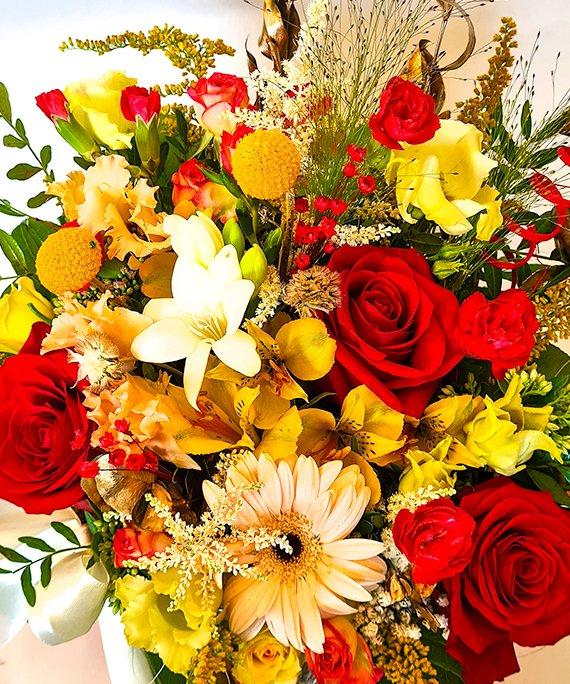 Cutie medie cu flori mixate 5