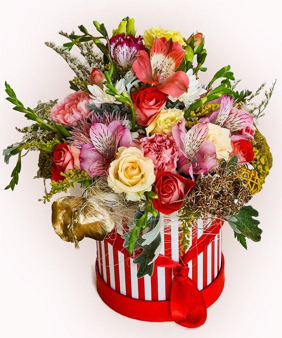 Cutie mix cu flori multicolore 1