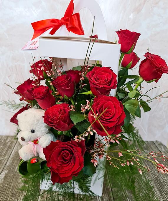 Cutie trandafiri si ursulet 3