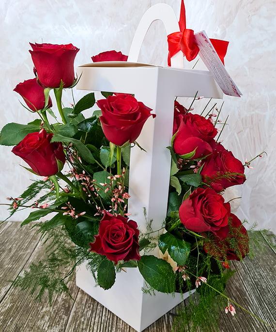 Cutie trandafiri si ursulet 4