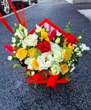 Plic cu flori mix a1