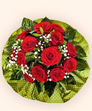 buchet 13 trandafiri rosii 2