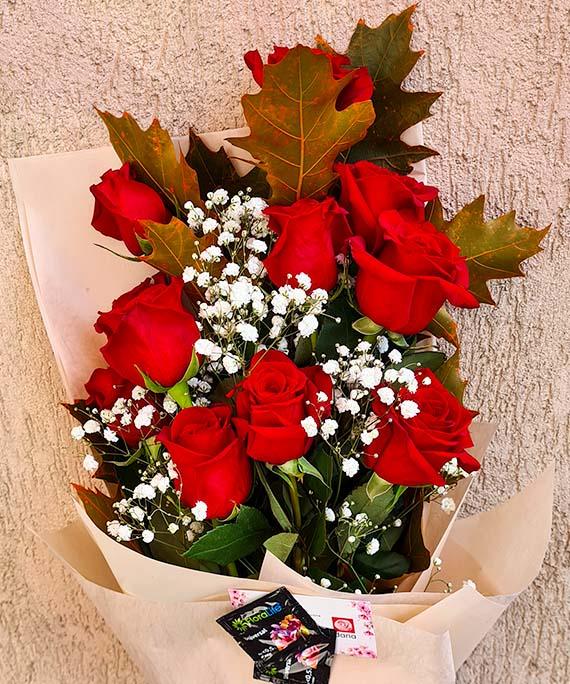 Buchet trandafiri si Quercus 3