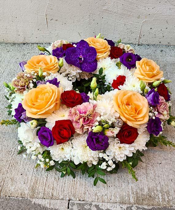 Coronita funerara multicolora 1
