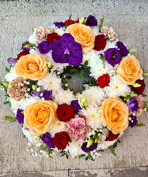 Coronita funerara multicolora 2