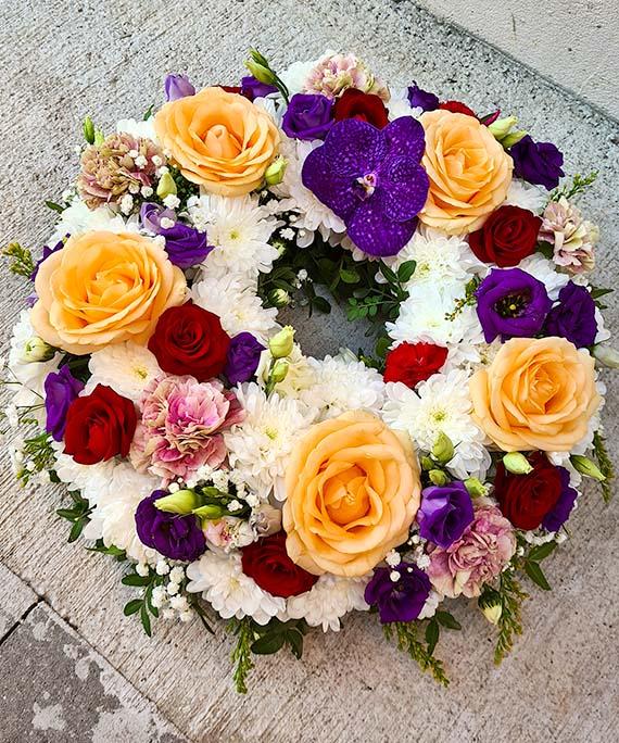 Coronita funerara multicolora 3