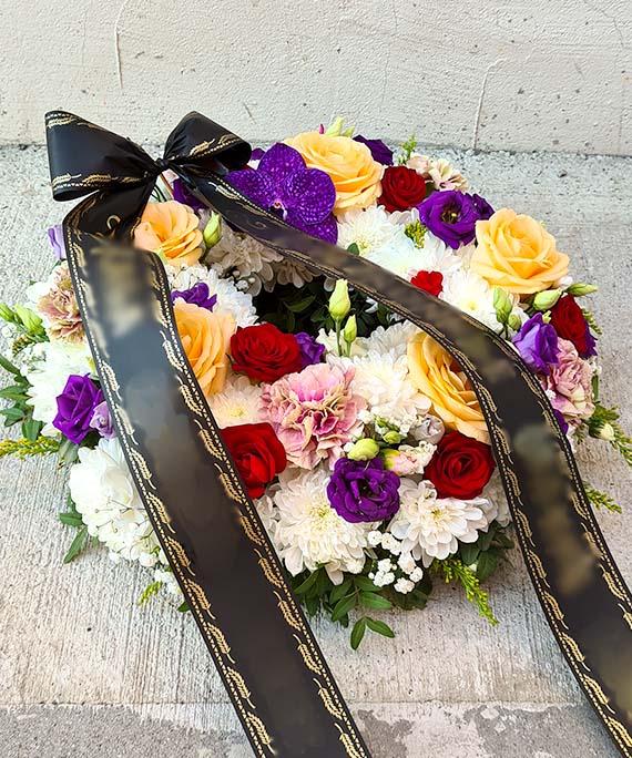 Coronita funerara multicolora 4